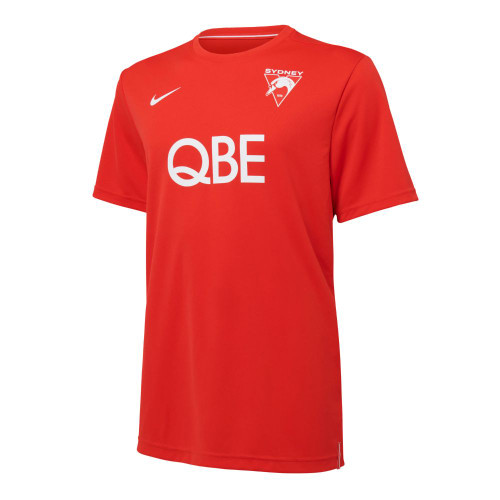 Sydney Swans 2021 Nike Mens UV Training Tee Red