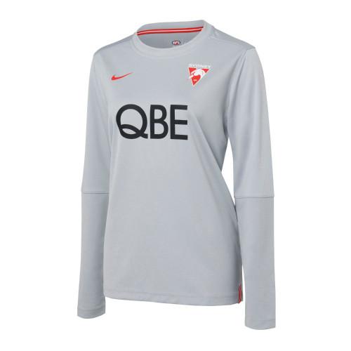 Sydney Swans 2021 Nike Womens Long Sleeve Top Wolf Grey
