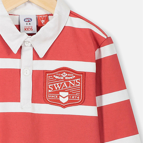 Sydney Swans 2020 Kids Old School Rugby Polo