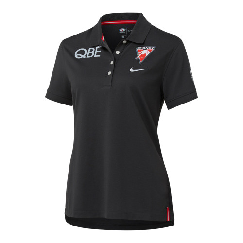 Sydney Swans 2021 Nike Womens Performance Polo Anthracite