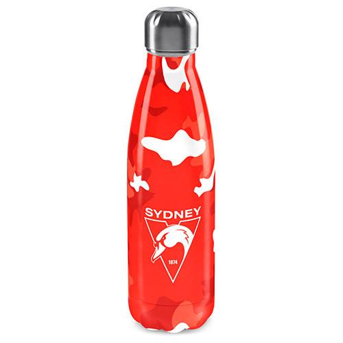 Sydney Swans Stainless Steel Camo Wrap Bottle