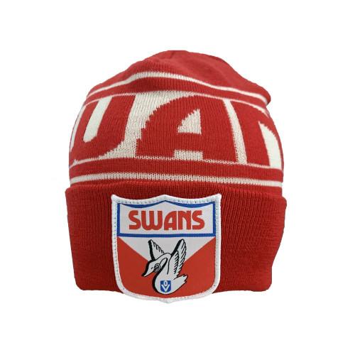 Sydney Swans FOF Wool Flashback Beanie