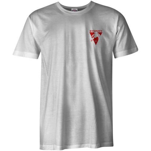 Sydney Swans 2021 New Logo AS Colour Tee - White