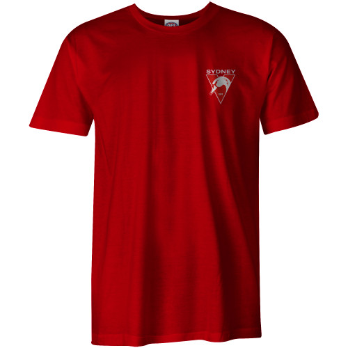 Sydney Swans 2021 New Logo AS Colour Tee - Red