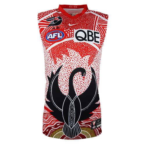 Sydney Swans 2021 Nike Kids Marn Grook Indigenous Guernsey