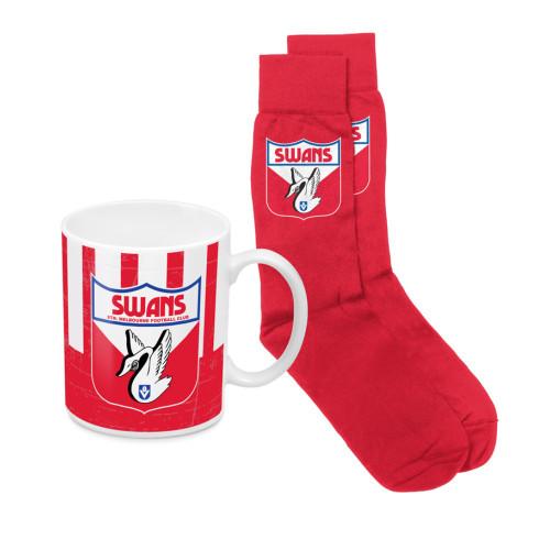 Sydney Swans Heritage Mug and Sock Pack