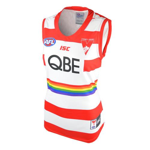 Sydney Swans Womens Sleeveless Pride Guernsey