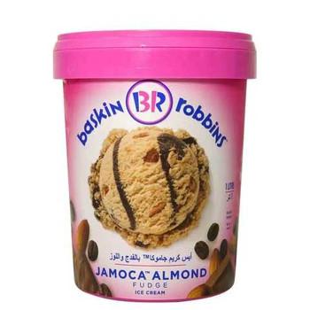 Baskin Robins Jamoca Almond Fudge Ice Cream 1L