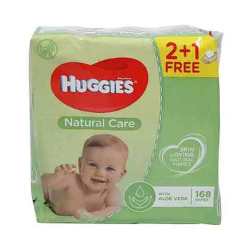 Huggies Baby Wipes Natural Care 56wipesx3