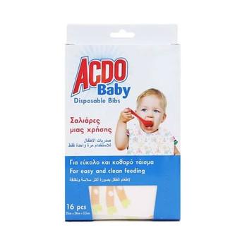 Acdo Baby Disposable Bibs 16pcs