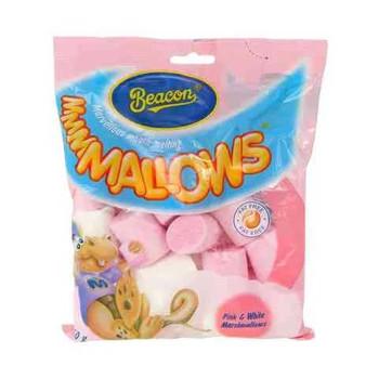 Beacon Mallows Pink And White Marshmallows 150g