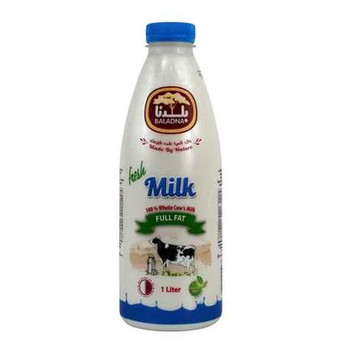 Baladna Fresh Cow Milk Full Fat 1L