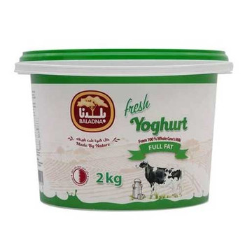 Baladna Fresh Yoghurt Full Fat Pack 2kg