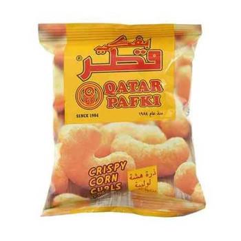 Qatar Pafki Crispy Corn Curls Cheese Flavour 15g