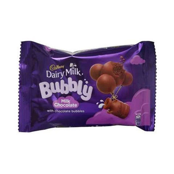 Cadbury Bubbly Milk Chocolate With Chocolate Bubbles 40g