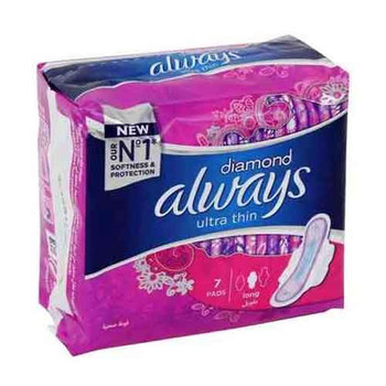 Always Diamond Sanitary Pads Long 7pcs