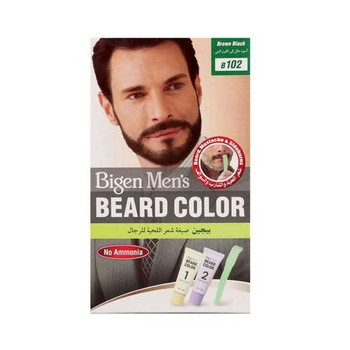 Bigen Men's Beard Color Brown Black B102
