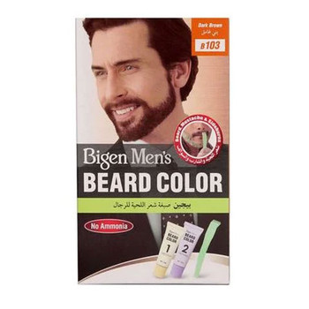 Bigen Men's Beard Color Dark Brown B103