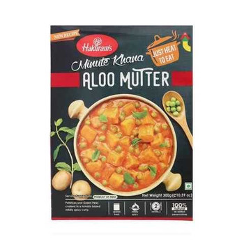 Haldiram's Aloo Mutter Potato and Green Peas 300g