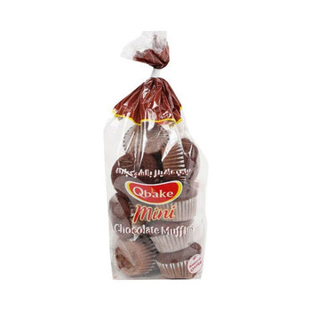 Qbake Mini Chocolate Muffins 195g