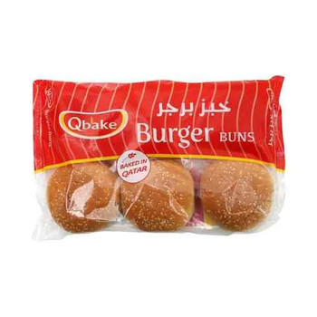 Qbake Buns Burger 6 Pieces, 420g