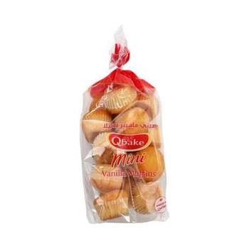 Qbake Mini Vanilla Muffins 195g