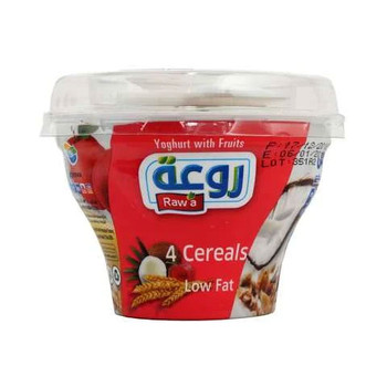 Raw'a Yoghurt With Fruits 4 Cereals 150g