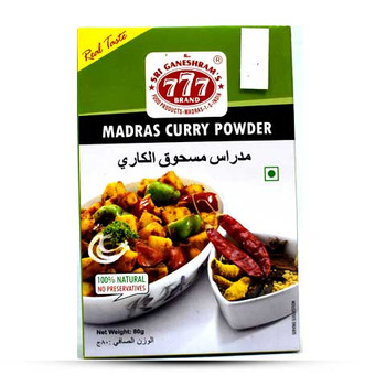 777 Madras Curry Powder 80gm
