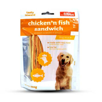 LES FILOUS CHICKEN AND FISH SANDWICH Dog food100G