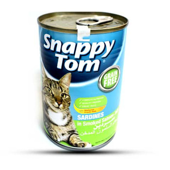 Snappy Tom  Sardines In Salmon Jelly Cat food 400gm