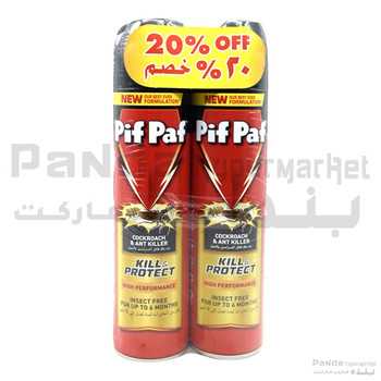 Pif Paf Cockroach Killer Twin Pack 400mlx2pc