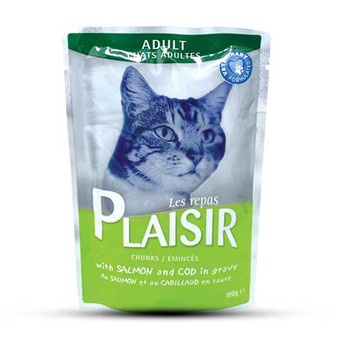 Plaisir Cats Chunks in Gravy with Salmon & Cod Pouch 100gm