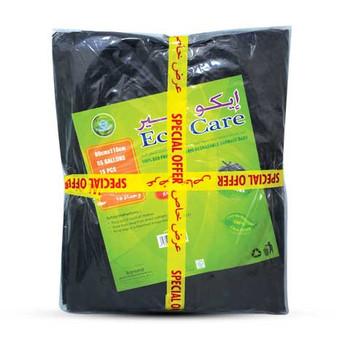 Eco Care Black Hd Garbage Bags Sheet 80X110Cmx2Pcs