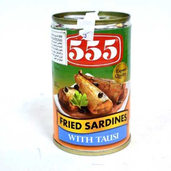 555 Fried Sardine Tausi 155gm