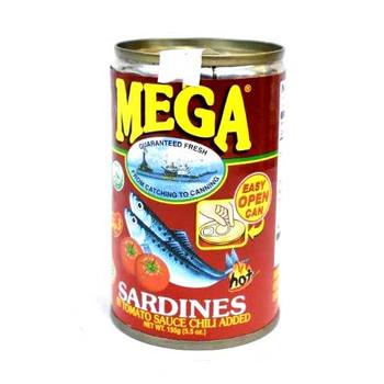 Mega Sardines In Tomato Sauce W/Chilli 155gm