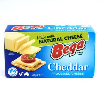 Bega - Processed Cheddar Cheese Block 500G