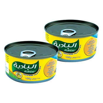 Albadia Light Meat Skipjack Tuna Chunks in S/Flwr 165gmX2pcs