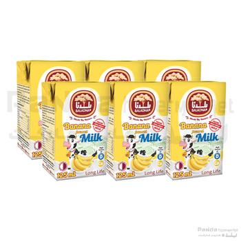 Baladna Long Life Banana Flavoured Milk 125ml X 6Pcs