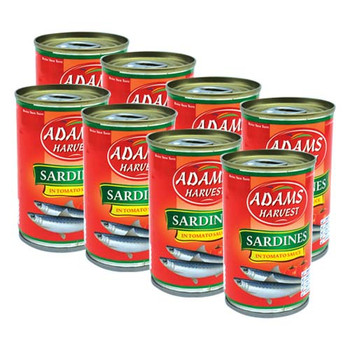 Adams Sardine 155gm x 8pcs