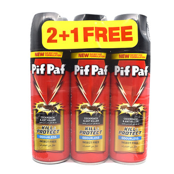 Pif paf Cockroach & Ant Killer Pest Controll 300ml 2+1 Free