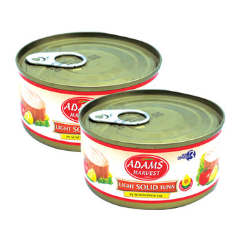 Adams Light Solid Tuna 185gmx2pcs