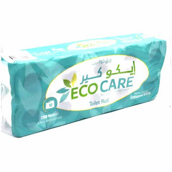 Eco Care Toilet 2ply 300mtr 10s