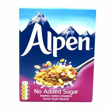 Alpen Cereal No Added Sugar Strawbry Cranberry & Raspberry 560gm