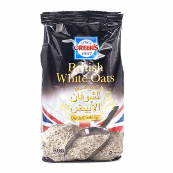 Greens White Oats Pouch 500G