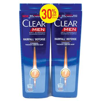 Clear Shampoo Hair Fall Defense-Men 400mlX2pcs