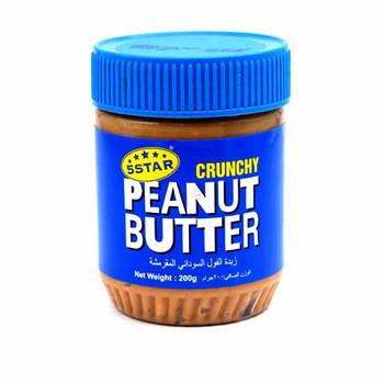 5 Star Crunchy Peanut Butter 200g