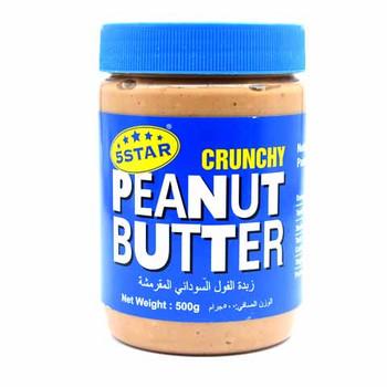 5 Star Crunchy Peanut Butter 500g