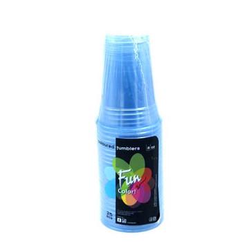 Fun Clear Plastic Tumbler 8Oz -Turquoise