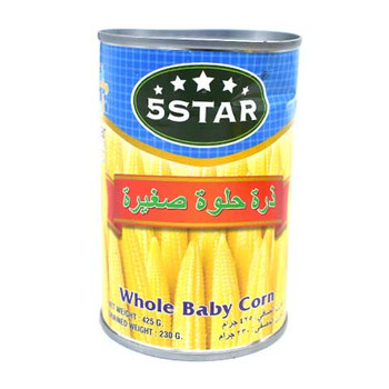 5 Star Baby / Young Corn 425gm