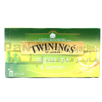Twinings Goldline Green Tea & Lemon Teabags 25s